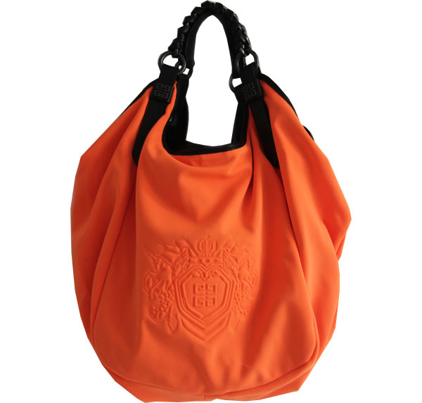 givenchy-sac-toile-orange-vintage