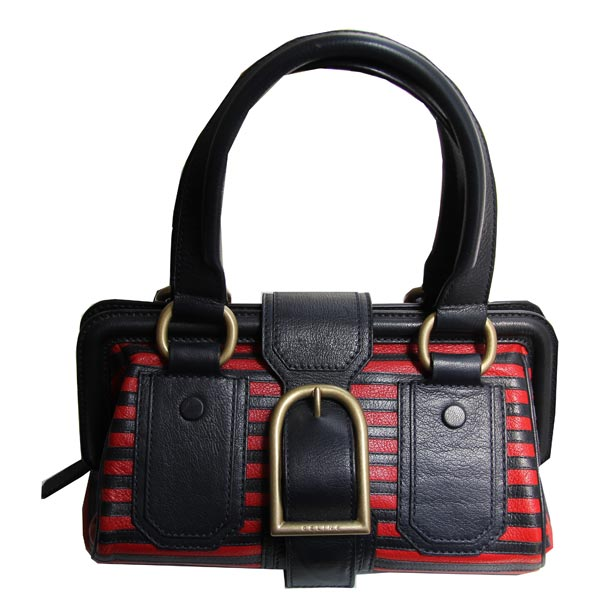 Celine-sac-rayures-noir-et-rouge