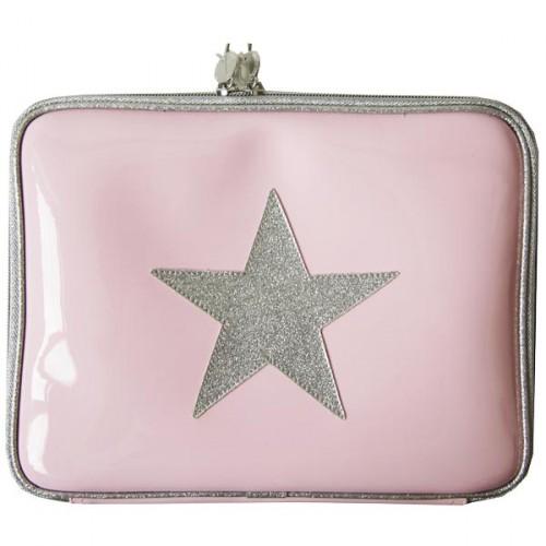 Anne- Charlotte goutal protège iPad rose argent étoile