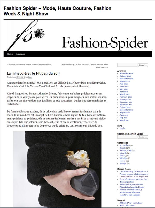 Fashion Spider Pascal Giacomini Minaudière