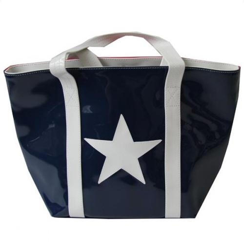 Anne-charlotte Goutal cabas City USA bicolore rouge et bleu