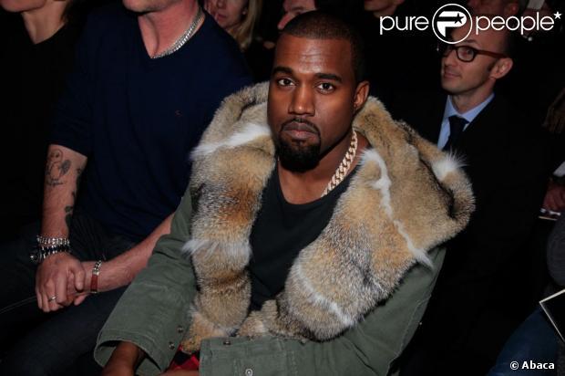 Kayne west defile louis Vuitton