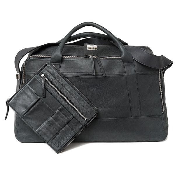 Cala sac en cuir noir 48h pour homme