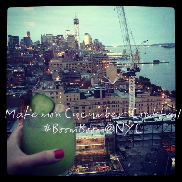 cucumber cocktail boom boom Standard hotel