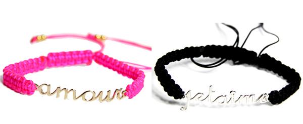 Full Art bracelet Amour et Je t aime