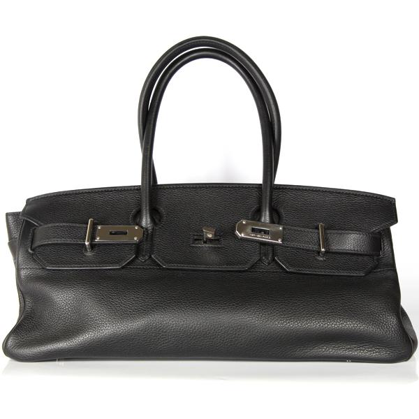 hermes-birkin-shoulder-noir-jean-paul-gaultier-cuir