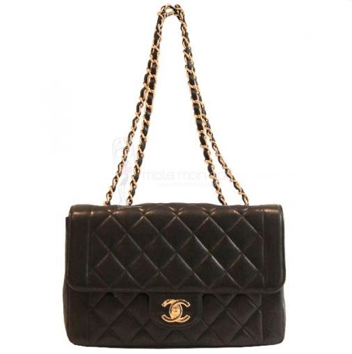 Chanel-255-vintage-matelasse-agneau-noir