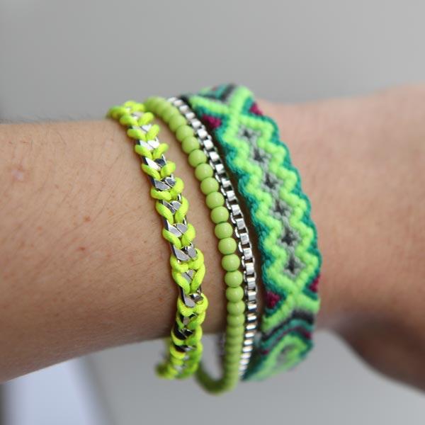bymatemonsac-bracelet-manchette-vert-jaune-fluo-porte