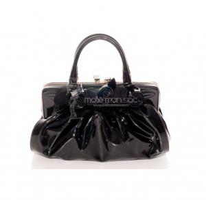Valentino Sac vernis noir à fleurs - Vintage disponible sur notre site