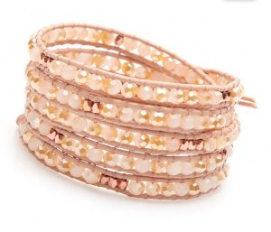 nakamol-bracelet-wrap-perles-facettees-rose-pale-reflets-or-cuir-rose-pale-CBP809-CRMC-PKT