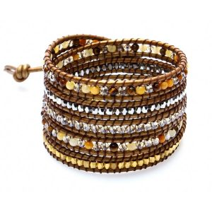nakamol-bracelet-wrap-perles-ton-beige-cuir-dore-CBX1194-TEM-DK-CPT