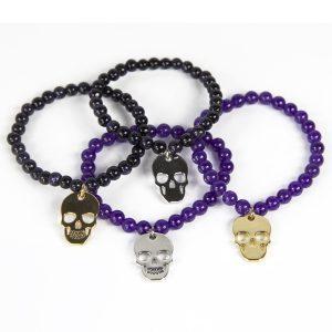 by-matemonsac-bracelets-vanite-dore-argent-perles-noires-violettes-ensemble