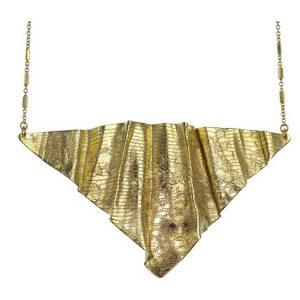 Collier Adélia en or plissé