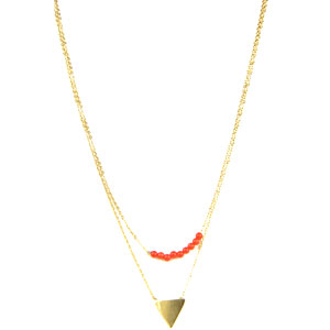 Matemonsac-collier-or-triangle-et-perles-rouge