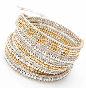 nakamol-bracelet-wrap-perles-or-et-argent-cuir-argent-CBX3063-GDSV