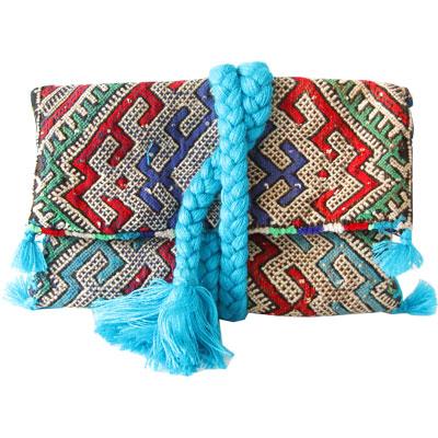 pochette-kilim-multico-tresse-turquoise