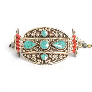 bracelet-corail-turquoise-metal-argent-3