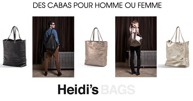 Cabas oversize Heidi's pour homme ou femme
