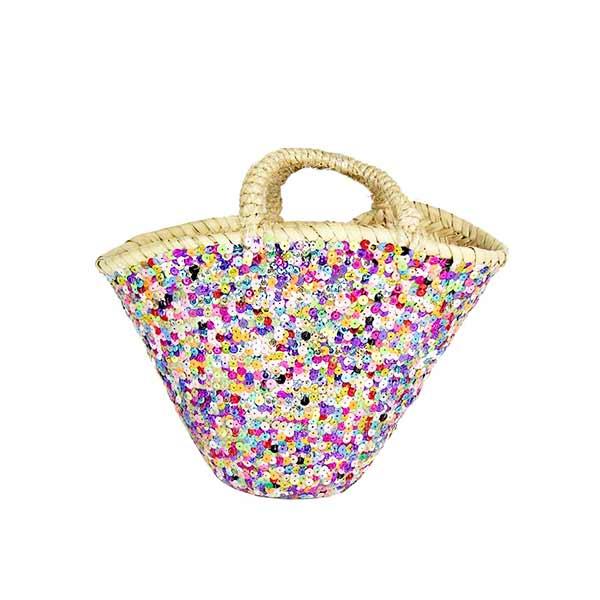 panier-enfant-plage-paillettes-multicolores