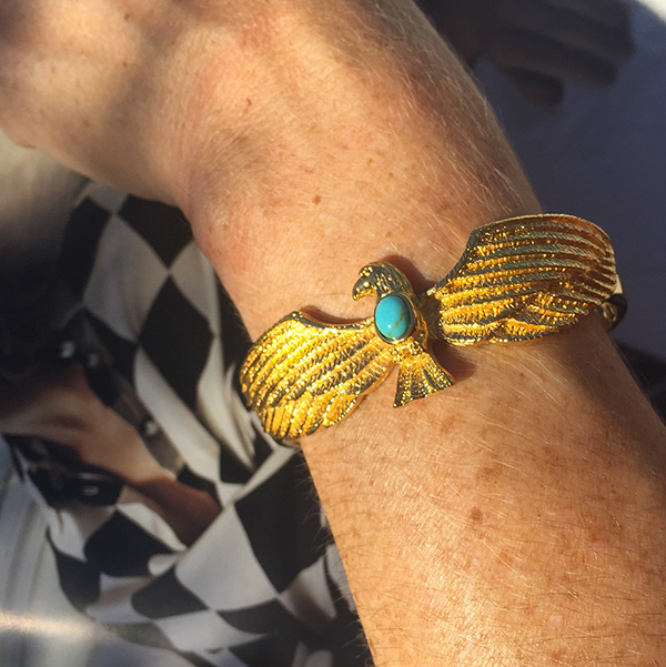 bracelet-dore-or-aigle-turquoise