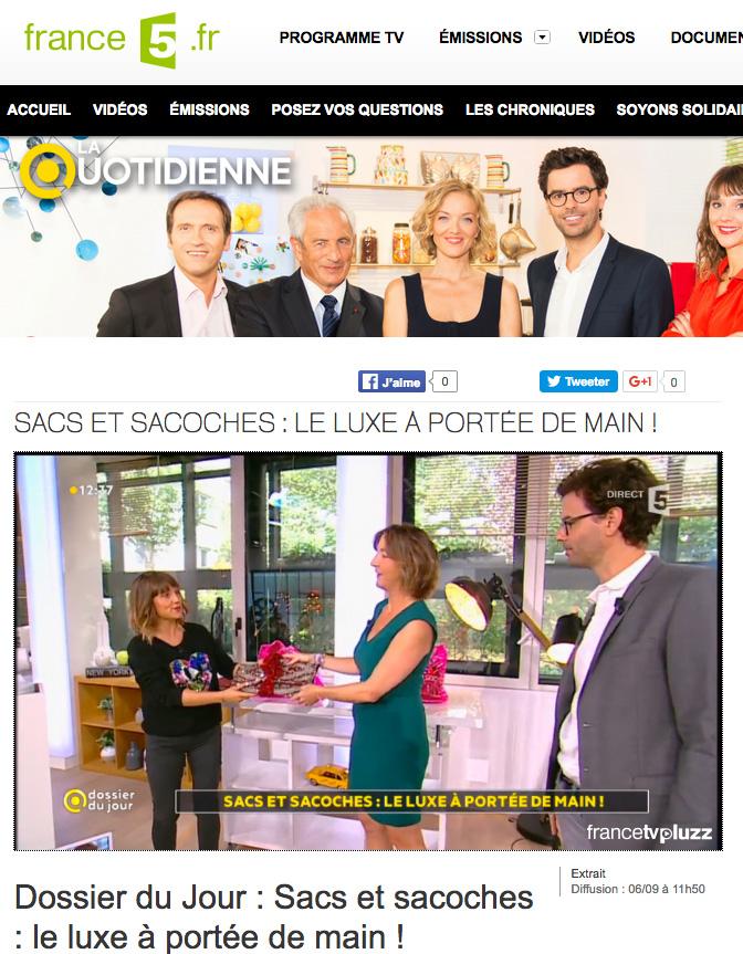 la-quotidienne-france5-pochette-kilim-mate-mon-sac