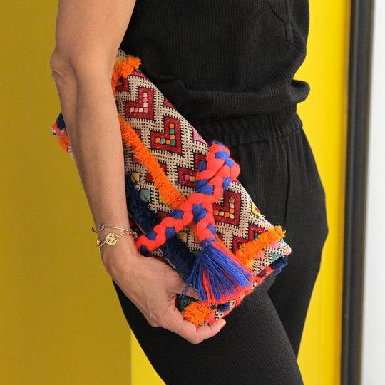 pochette-kilim-unique-tresse-orange-bleu-mate-mon-sac