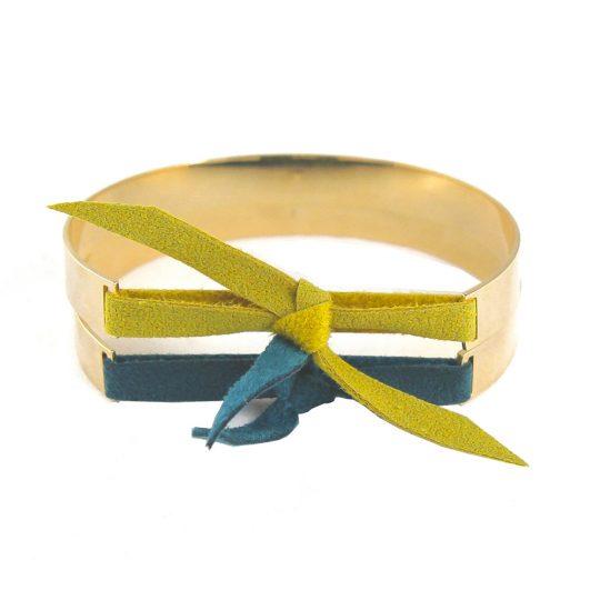 paloma-stella-bracelet-jonc-xxl-or-nubuck-bleu-vert