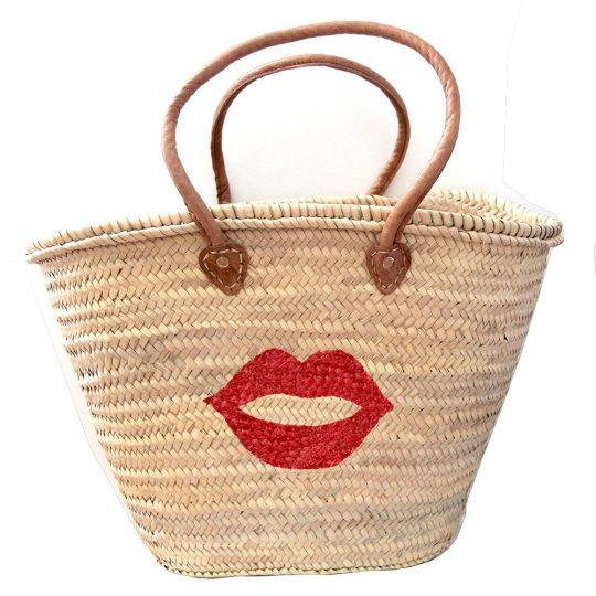 panier-peint-osier-lips-rouge-anses-cuir-maud-fourier