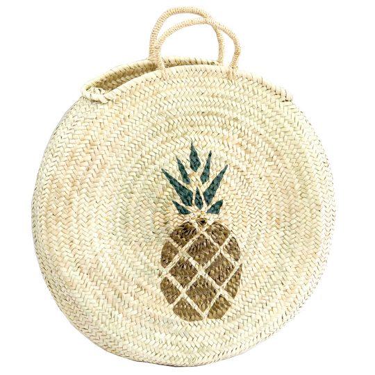 panier-rond-peint-ananas-maud-fourier-paris-tropicool
