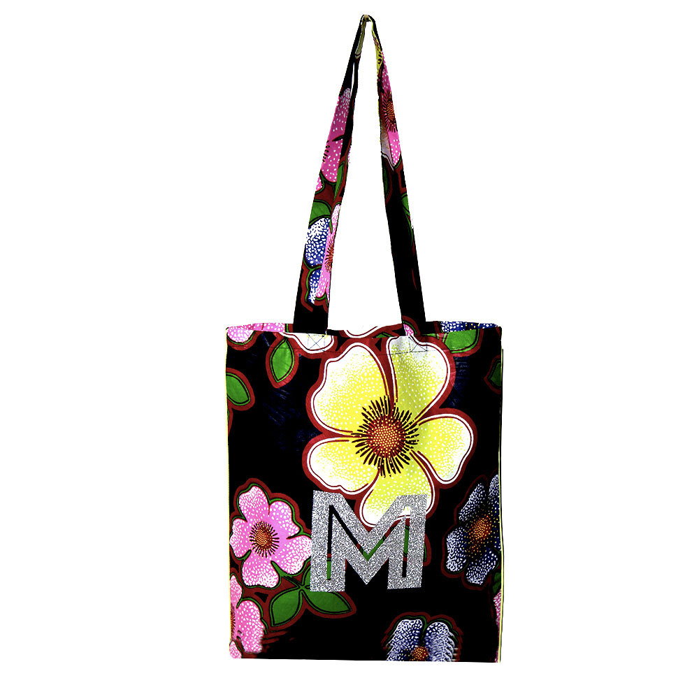 tote bag coton wax marine personnalisable maud fourier initiale