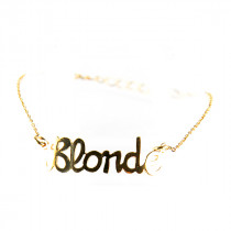 bracelet blonde en plaque or mate mon sac