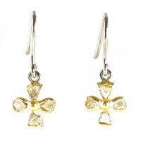 Catherine Michiels boucles oreille Fleur Or