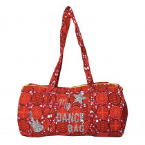 sac polochon coton wax rouge et ecussons par maud fourier paris