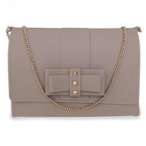 baci sac a main silicone taupe chaine or rose