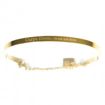 Bracelet Jonc Carpe Diem Or