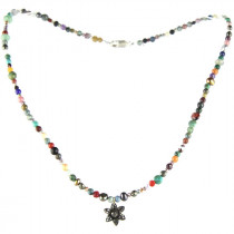Catherine Michiels Collier Multicolore Fleur Argent
