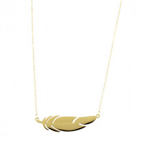 Collier Plume plaque or mate mon sac