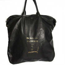 paris house fishing bag cuir noir face