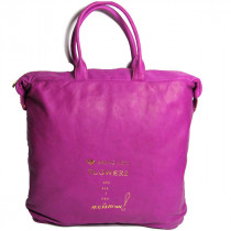 Paris House sac a main Fishing bag en cuir Fuchsia face
