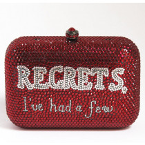 paris house minaudiere strass rouge face