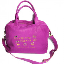 paris House sac a main easy come easy go fuchsia face
