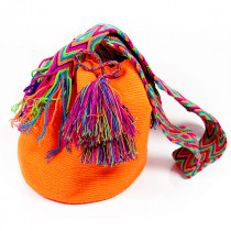 Sac Mochila Bourse Ethnique Boho orange face