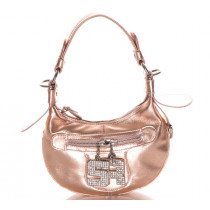 Sonia Ryiel sac Nevada metallise rose pale vintage
