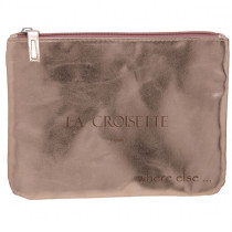 where else pochette metallisee croisette rose