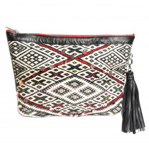 maud fourier paris pochette kilim cuir saint germain rouge maud fourier paris