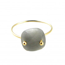 bague quartz or gris
