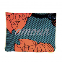 pochette wax personnalisee mot bonjour glitter maud fourier amour