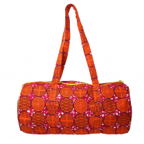 sac polochon coton wax  rouge par maud fourier paris
