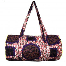 sac polochon coton wax rose par maud fourier paris