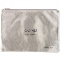 where else pochette cannes argent noir